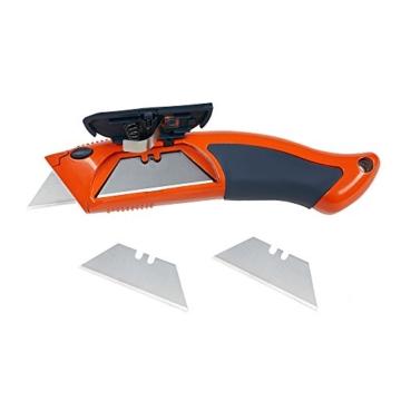 PRESCH Cuttermesser Set 7-tlg. mit 10 Abbrechklingen – Profi Universal-Messer für Karton, Teppich oder zum Basteln - 4