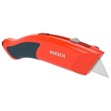 PRESCH Cuttermesser Set 7-tlg. mit 10 Abbrechklingen – Profi Universal-Messer für Karton, Teppich oder zum Basteln - 5