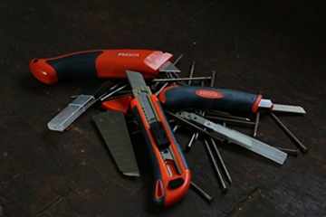 PRESCH Cuttermesser Set 7-tlg. mit 10 Abbrechklingen – Profi Universal-Messer für Karton, Teppich oder zum Basteln - 8